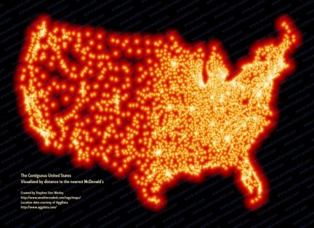 Carte Mac Donald's USA